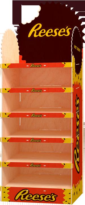 display podłogowy na słodycze front