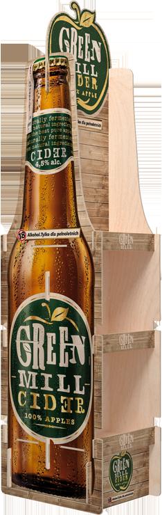 ekspozytor ze sklejki na piwo